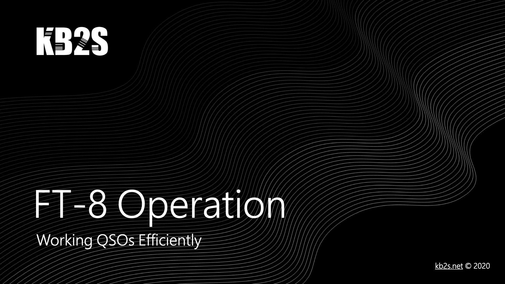 FT-8 Operation (PDF)